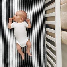 Morning views on our stripe crib sheet | Modern Burlap