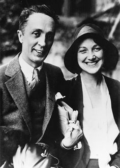 Norman Rockwell poses with his second wife, Mary.