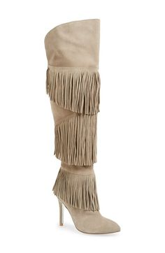Kristin Cavallari 'Chance' Over the Knee Fringe Boot (Women) available at #Nordstrom