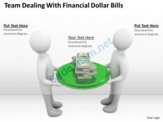Team Dealing with Financial Dollar Bills Ppt Graphics Icons Powerpoint #Powerpoint #Templates #Infographics
