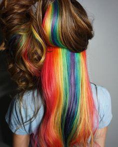 Hidden Rainbow Hair color for auburn long air