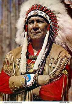 Canadian Indian Chief  <3 respect for the First Nations