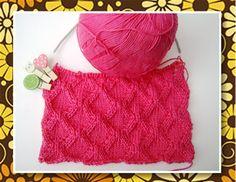 Mais um pontinho de tricô lá no blog: http://miauartes.blogspot.com.br/ #artesanato