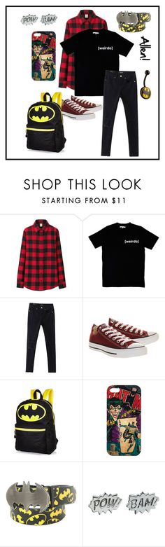 """""""Set for Allen! (if you read the D you'll know what I'm talking about)"""" by chuckygal-mp ❤ liked on Polyvore featuring Uniqlo, Illustrated People, WithChic, Converse and Edge Only"""