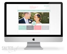 New Website Launch: Bliss Bridal Beauty | web and brand design by Saltedink.com
