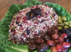 All of the Seven Species mentioned many times in the Torah�wheat, barley, grapes (wine), figs, pomegranates, olives (oil) and dates (or silan%