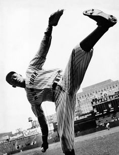 "The first player to be inducted into the Hall of Fame from the Negro leagues, Leroy ""Satchel"" Paige. On the Negro Leagues for over 20 years, Paige jumped on the integration train and joined the Major Leagues. At the tender age of 42, Paige became the oldest rookie ever.    His windmill windup and sky-high kick made him a spectacle on major league diamonds."