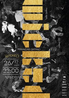 Saved by Inspirationde (inspirationde). Discover more of the best Poster, Wicked, Design, Graphic, and Club inspiration on Designspiration Graphic Design Posters, Graphic Design Typography, Graphic Design Inspiration, Branding Design, Poster Designs, Creative Inspiration, Dm Poster, Poster Layout, Poster Prints