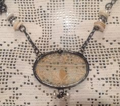 Vintage lace statement necklace The Charming by THECHARMINGCHERUB, $68.00