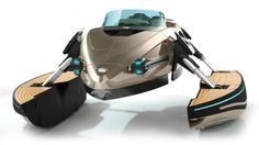 High-tech watercraft transforms from monohull, to catamaran, to trimaran, to hydrofoil