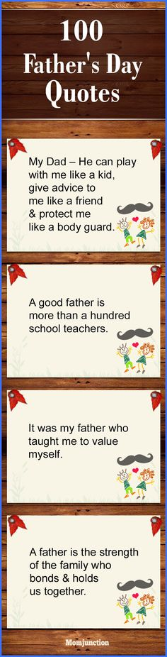 Father's Day is celebrated on the third Sunday in the month of June. Check the history of Father's Day and 100 best fathers day quotes, poems and songs.