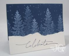 Christmas Card Ideas | Josee Smuck-Stampin' Up! Canada Demonstrator.  Easy &  pretty card.