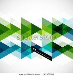 Modern geometrical abstract vector template by antishock, via ShutterStock