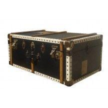 Malle de voyage vintage ancienne noire #malle #rangement #valise #ancienne #noire #voyage #vintage