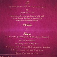 Marathi And English Lagna Patrika Sample Gujarati Wedding Invitation