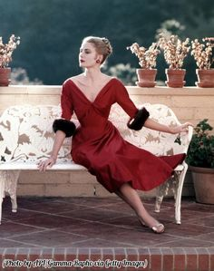 This Grace Kelly dress would be a killer if the neckline were higher!