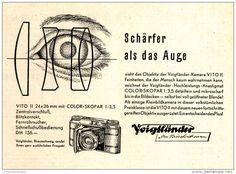 Original-Werbung/Anzeige 1951 - VOIGTLÄNDER KAMERAS - ca. 120 X 100 mm