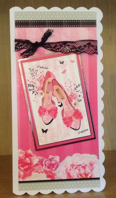 Handmade ladies card using Hunkydory So chic