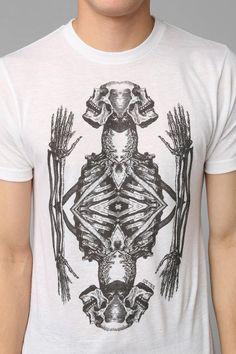 Urban Outfitters - Deter Praying Skeleton Tee
