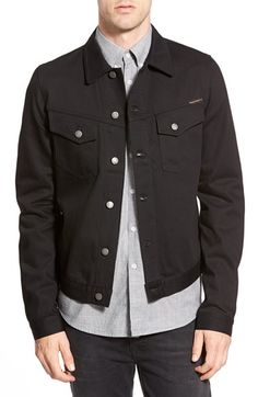 Nudie Jeans 'Kenny' Denim Jacket (Dry Black)