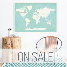 Introducing our new 36x24 interactive world map (+ 40 stickers). The perfect piece to decorate with the provided stickers (animals, people, flora, fauna, nature landmarks), an activity that will spark conversation between your and your child about our ear