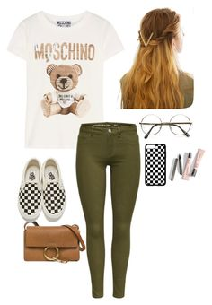 Sin título #110 by fautumm on Polyvore featuring polyvore, fashion, style, Moschino, Vans, Chloé, WithChic and clothing