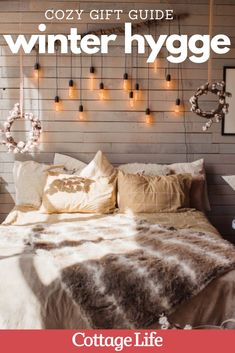 This gift guide has the coziest ideas for the person who loves to stay warm and comfy all winter long. These picks will inspire hygge! #giftguide #hygge #cozy #hyggeaesthetic #hyggedecor #hyggeideas #CottageLife Hygge Book, Gingerbread House Kits, Egyptian Cotton Bedding, Cottage Christmas, Wearable Blanket, Kit Homes, Stay Warm, Gift Guide, Inspire