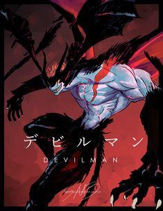 devilman devilman crybaby crybaby devil demon monster akira fudo my art   sambadgerowart.tumblr.com
