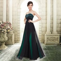 Ever Pretty Strapless Green Long Evening Formal Prom Dresses 08070 US Size 08 in Dresses | eBay