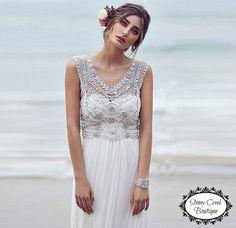 VENDITA  Abito da sposa in pizzo bianco V di StoneyCreekBoutiques