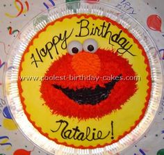 Take a look at the coolest Elmo birthday cakes. You'll also find loads of homemade cake ideas and DIY birthday cake inspiration. Elmo Birthday Cake, Elmo Cake, Cool Birthday Cakes, Birthday Parties, Homemade Cakes, Party Ideas, Desserts, Easy, Food