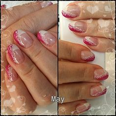 Franch nail with decor