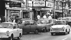 Nach Öffnung der Grenzübergänge kamen DDR-Bürger mit ihren Trabis zur Reeperbahn.