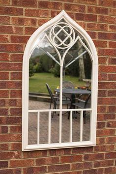 stupendous garden archway. View Elegant Large Cream Garden Mirror 122x69cm  Features a beautiful detailed cream frame Will This stupendous bronze gothic garden mirror stands at 3 ft 11 by 2