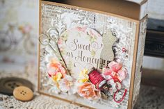 Needle box by Vera Shelemekh with Amber and Apricot