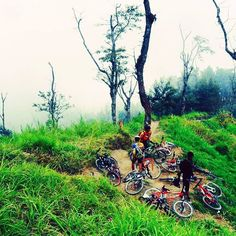 photo by @alimmcm8 with sardot cycling team located in merbabu mountain with 2000 elevation gain  #pacificbikerider #pacificbikes #sepeda #sepedagunung #centraljava #merbabu #mountain #volcano #offroad #enduro #crosscountry #mtbindonesia #mountainbike