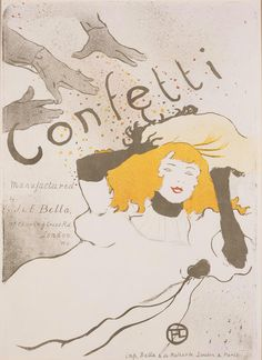 Henri de Toulouse-Lautrec (French, 1864–1901)  Confetti, 1894  Color lithograph  image: 22 3/16 x 15 1/2 in. (56.36 x 39.37 cm) sheet: 22 9/16 x 17 5/8 in. (57.31 x 44.77 cm)  Gift of Mrs. Harry Lynde Bradley M1977.50   Photo credit Larry Sanders