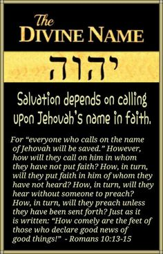 """The Name we often call """"Jehovah"""" is best in the original Hebrew, which is YAWEH."""