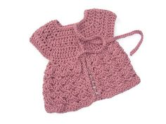 Newborn Baby Sweater - Angel Top Style Cardigan - Fits 0-4 months - Made to Order in Ireland