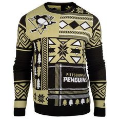 Grab a Pittsburgh Penguins Patches Ugly Sweater (Black) from FANZZ and make sure you or the person on your list looks great! Ugly Sweater Party, Ugly Christmas Sweater, Tacky Sweater, Holiday Sweaters, Sweaters And Leggings, Black Sweaters, Crewneck Sweaters, Graphic Sweaters, Men's Sweaters