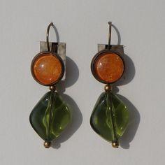 Boucles d'oreilles aquarelle dormeuses pendantes par oliviaquarelle