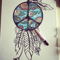 Doodling #dreamcatcher #bohemian