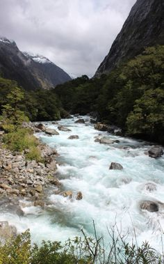 Montains River South Island NZ