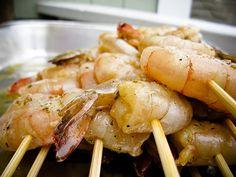 espetada de camarão