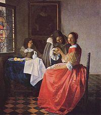 Dama con dos caballeros o Muchacha con copa de vino, hacia 1659-1660 (Herzog Anton Ulrich-Museum, Brunswick).
