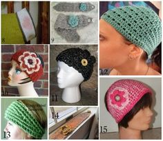 It has gotten really cold here in my parts of Texas in the last couple of weeks. It is definitely time for some new crochet ear-warmers / headbands to keep our ears nice and toasty. I am in the mood