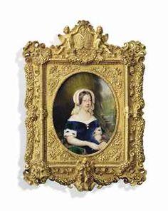 Frame!!!! no makers name !! what crime his masterpiece unsigned JOSEPH HIPPOLYTE LEQUEUTRE (FRENCH, 1793-1877) Marie-Caroline (1798-1870) Duchesse de Berry, née Princess Caroline of Naples and Sicily,