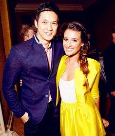 Harry Shum, Jr. and Lea Michele