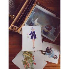 Ma petite valise pleine d'originaux. Je vais peut-être en vendre bientôt! *** My little suitcase full of original drawings. I might sell a few very soon!