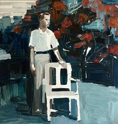 """Clara Adolphs """"White Chair"""" will be exhibited on November 5 and 6 at exclusive Mittagong girls' school Frensham. Painting People, Figure Painting, Aboriginal Words, Chair Drawing, Unusual Words, Australian Artists, Figurative Art, Lovers Art, Cool Art"""